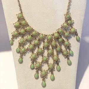 Gorgeous Light Green Statement Necklace